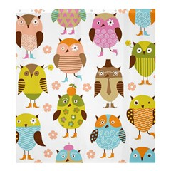 Highres Owls Shower Curtain 66  x 72  (Large)