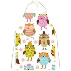 Highres Owls Full Print Aprons