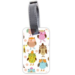 Highres Owls Luggage Tags (One Side)