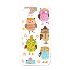 Highres Owls Apple iPhone 4 Case (White)