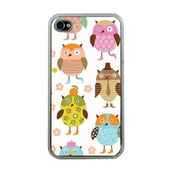 Highres Owls Apple iPhone 4 Case (Clear)