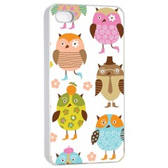 Highres Owls Apple iPhone 4/4s Seamless Case (White)