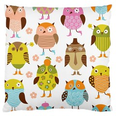 Highres Owls Large Cushion Case (Two Sides)