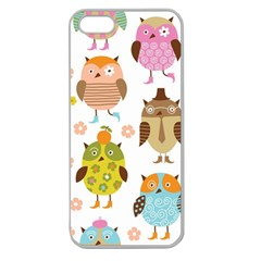 Highres Owls Apple Seamless iPhone 5 Case (Clear)
