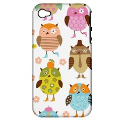 Highres Owls Apple iPhone 4/4S Hardshell Case (PC+Silicone)