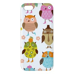 Highres Owls Apple iPhone 5 Premium Hardshell Case