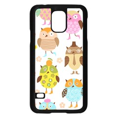 Highres Owls Samsung Galaxy S5 Case (Black)