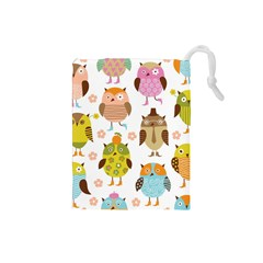 Highres Owls Drawstring Pouches (Small)