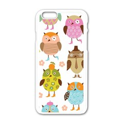 Highres Owls Apple iPhone 6/6S White Enamel Case