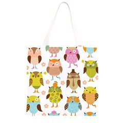 Highres Owls Grocery Light Tote Bag