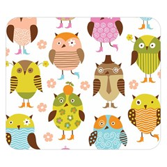 Highres Owls Double Sided Flano Blanket (Small)