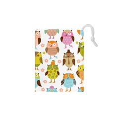 Highres Owls Drawstring Pouches (XS)