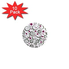 Leaf Back Purple Copy 1  Mini Magnet (10 pack)