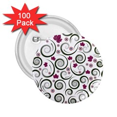Leaf Back Purple Copy 2.25  Buttons (100 pack)