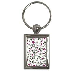 Leaf Back Purple Copy Key Chains (Rectangle)