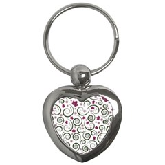Leaf Back Purple Copy Key Chains (Heart)