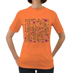 Leaf Back Purple Copy Women s Dark T-Shirt