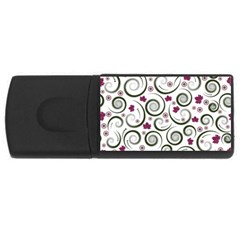 Leaf Back Purple Copy USB Flash Drive Rectangular (4 GB)