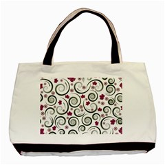 Leaf Back Purple Copy Basic Tote Bag (Two Sides)