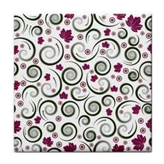Leaf Back Purple Copy Face Towel