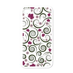 Leaf Back Purple Copy Apple iPhone 4 Case (White)