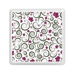 Leaf Back Purple Copy Memory Card Reader (Square)