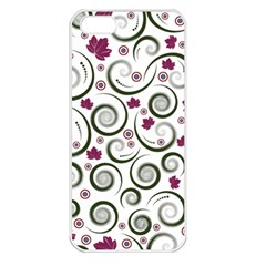 Leaf Back Purple Copy Apple iPhone 5 Seamless Case (White)