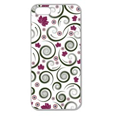 Leaf Back Purple Copy Apple Seamless iPhone 5 Case (Clear)
