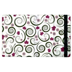 Leaf Back Purple Copy Apple iPad 3/4 Flip Case