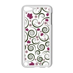 Leaf Back Purple Copy Apple iPod Touch 5 Case (White)