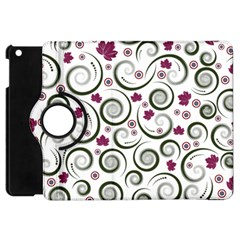 Leaf Back Purple Copy Apple iPad Mini Flip 360 Case
