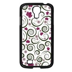 Leaf Back Purple Copy Samsung Galaxy S4 I9500/ I9505 Case (Black)
