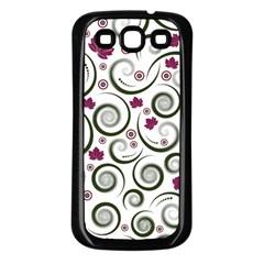Leaf Back Purple Copy Samsung Galaxy S3 Back Case (Black)