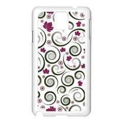 Leaf Back Purple Copy Samsung Galaxy Note 3 N9005 Case (White)