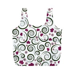 Leaf Back Purple Copy Full Print Recycle Bags (M)