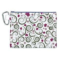 Leaf Back Purple Copy Canvas Cosmetic Bag (XXL)