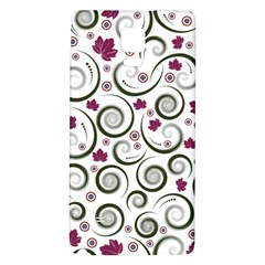 Leaf Back Purple Copy Galaxy Note 4 Back Case