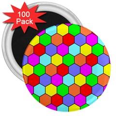 Hexagonal Tiling 3  Magnets (100 pack)