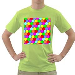 Hexagonal Tiling Green T-Shirt