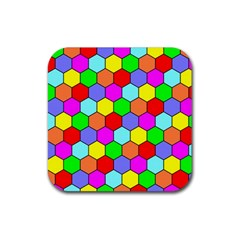 Hexagonal Tiling Rubber Square Coaster (4 pack)