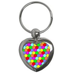 Hexagonal Tiling Key Chains (Heart)