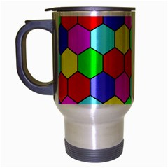 Hexagonal Tiling Travel Mug (Silver Gray)