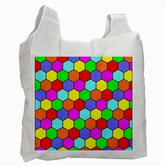 Hexagonal Tiling Recycle Bag (One Side)