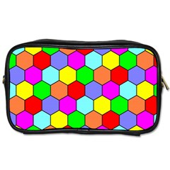 Hexagonal Tiling Toiletries Bags