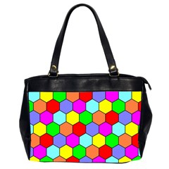 Hexagonal Tiling Office Handbags (2 Sides)