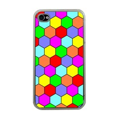 Hexagonal Tiling Apple iPhone 4 Case (Clear)