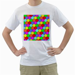 Hexagonal Tiling Men s T-Shirt (White)