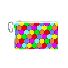 Hexagonal Tiling Canvas Cosmetic Bag (S)