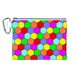 Hexagonal Tiling Canvas Cosmetic Bag (L)