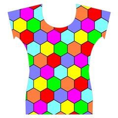 Hexagonal Tiling Women s Cap Sleeve Top
